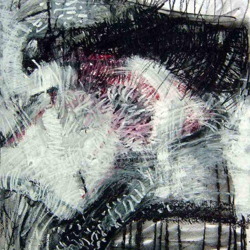 Tusche/ Kreide / Tempera auf Karton, 50 x 70 cm, 2010