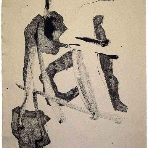 Tusche auf Büttenpapier, 55 x 30 cm, 2015