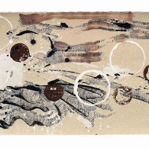Tusche / Tempera auf Büttenpapier, 40 x 28 cm, 2011