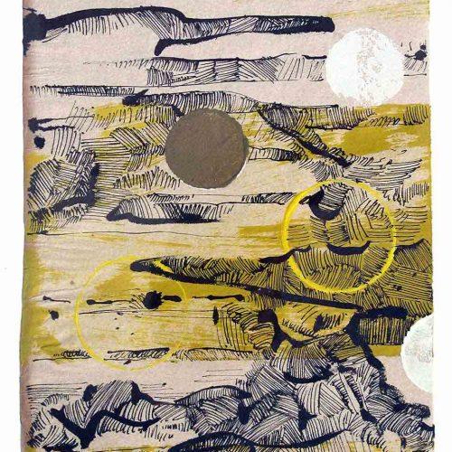 Tusche / Tempera auf Büttenpapier, 28 x 20 cm, 2011