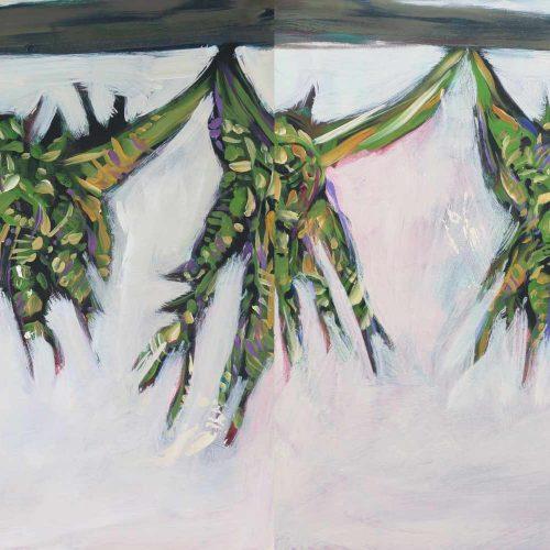 Acryl auf Leinwand, 100 x 280 cm, 2017