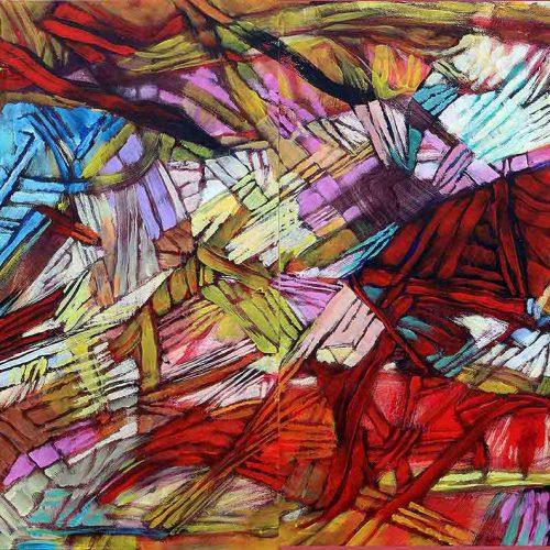 Acryl auf Leinwand, 80 x 240 cm, 2017
